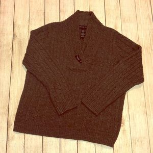 Josephine Chaus brown cable knit sweater L